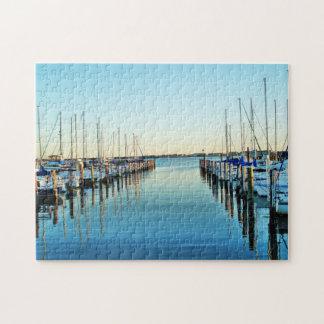 Boats At The Marina by Shirley Taylor Puzzle