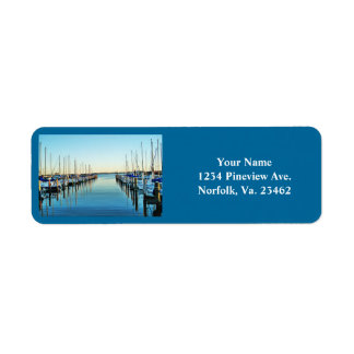Boats At The Marina by Shirley Taylor Return Address Label