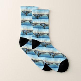 Boats at the Marina by Shirley Taylor Socks