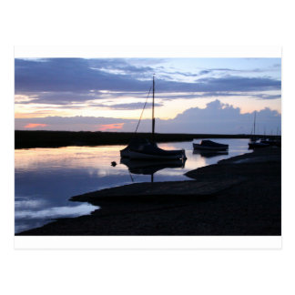 Boats Blakeney at dusk Postcard