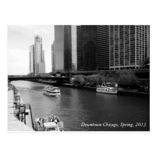 Boats Downtown, Chicago, Spring 2013 Postcard