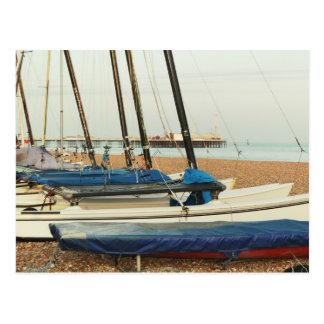 Boats in Brighton, UK Postcard