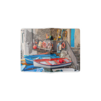 Boats in Cinque Terre Italy Passport Holder