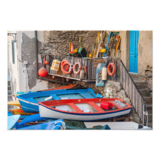 Boats in Cinque Terre Italy Photo Print