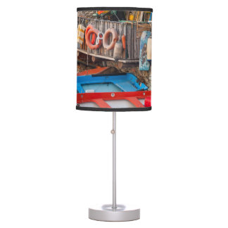 Boats in Cinque Terre Italy Table Lamp