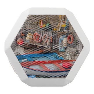 Boats in Cinque Terre Italy White Bluetooth Speaker