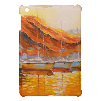 Boats in Harbor Case For The iPad Mini