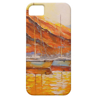 Boats in Harbor Case For The iPhone 5