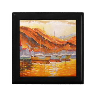 Boats in Harbor Gift Box