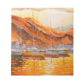 Boats in Harbor Notepad