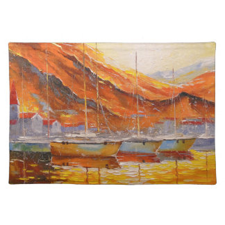 Boats in Harbor Placemat