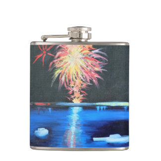 Boats in July Hip Flask