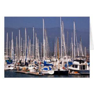 Boats in marina card