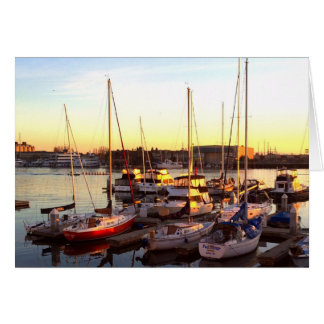 Boats in Marina in Oakland, CA Card