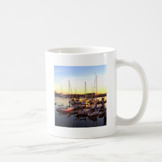 Boats in Marina in Oakland, CA Coffee Mug
