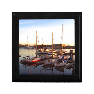 Boats in Marina in Oakland, CA Gift Box