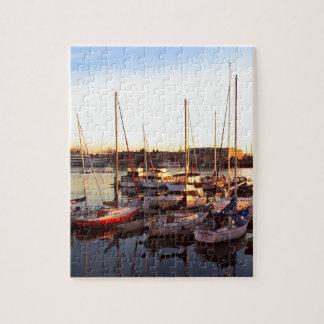 Boats in Marina in Oakland, CA Jigsaw Puzzle