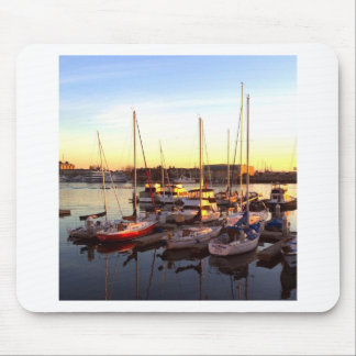 Boats in Marina in Oakland, CA Mouse Pad