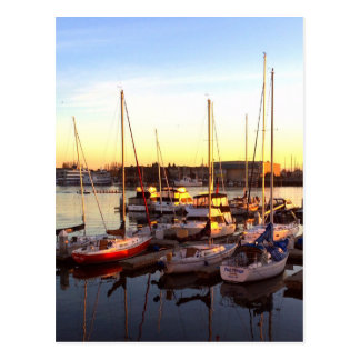 Boats in Marina in Oakland, CA Postcard
