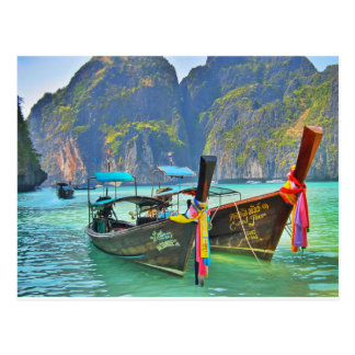 Boats in Maya Bay Postcard
