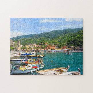 Boats in Monterosso Al Pond - Cinque Ground Jigsaw Puzzle