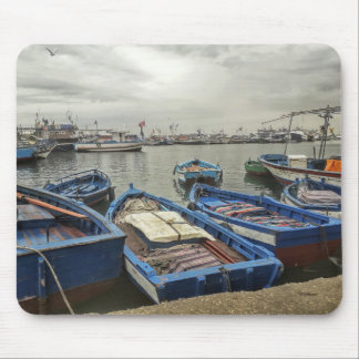 Boats In Port Mouse Pad