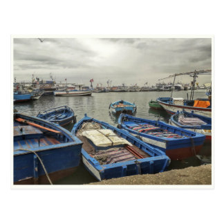 Boats In Port Postcards
