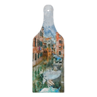 Boats in the Canals of Venice Italy Boards