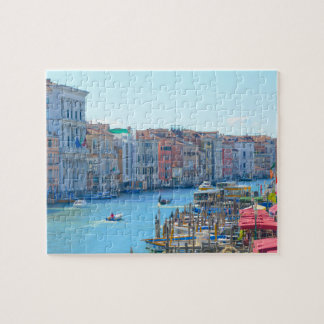 Boats in the Canals of Venice Italy Jigsaw Puzzle