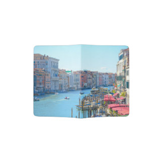 Boats in the Canals of Venice Italy Passport Holder