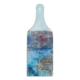 Boats in the Grand Canal in Venice Italy Cutting Board