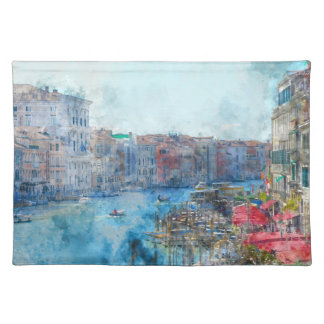 Boats in the Grand Canal in Venice Italy Placemat
