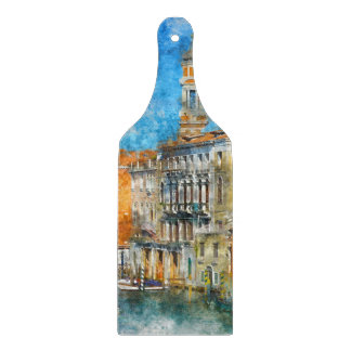 Boats in the Grand Canal of Venice Italy Cutting Board