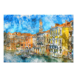 Boats in the Grand Canal of Venice Italy Photo Print