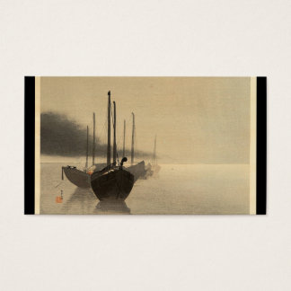 Boats in the Mist by Seitei Watanabe 1851- 1918 Business Card