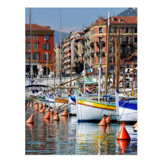 Boats in the port of Nice in France Postcard