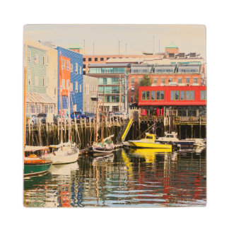 Boats Moored | Portland, Maine Wood Coaster