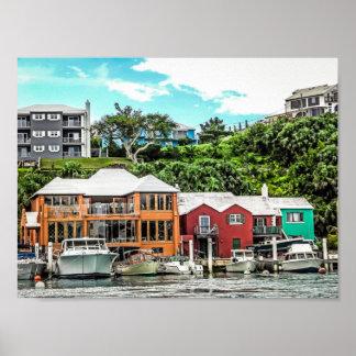 Boats near Hamilton, Bermuda Poster