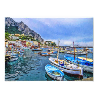 Boats of Capri Italian Photo Art