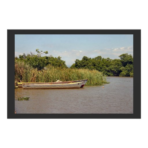 Boats on Black River Poster