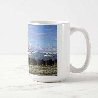 boats on lake michigan mug