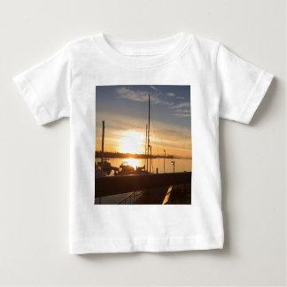 Boats on Marina at Sunset Baby T-Shirt