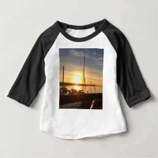 Boats on Marina at Sunset Baby T-Shirt