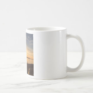 Boats on Marina at Sunset Coffee Mug