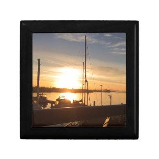 Boats on Marina at Sunset Gift Box