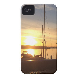 Boats on Marina at Sunset iPhone 4 Case