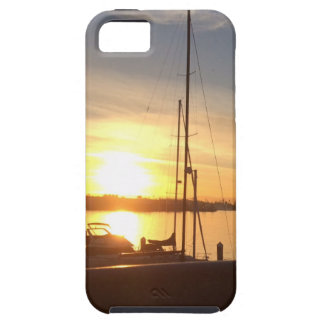 Boats on Marina at Sunset iPhone 5 Case