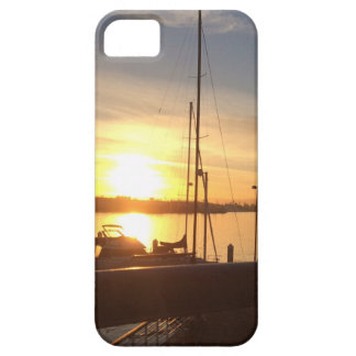 Boats on Marina at Sunset iPhone 5 Cases