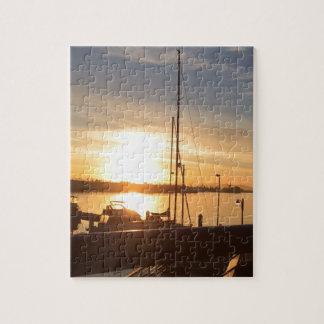 Boats on Marina at Sunset Jigsaw Puzzle
