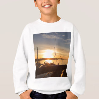 Boats on Marina at Sunset Sweatshirt